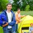 Stock Photo: Camping in park