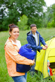 Camping in the park — Stock Photo