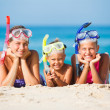 Three happy children on beach... — Stock Photo #37773207