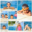 Stock Photo: Activities on pool
