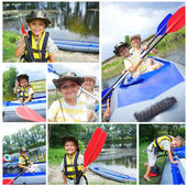Family kayaking — Photo