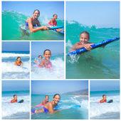 Summer vacation - surfer girls. — Stock Photo