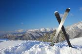 山でのスキー — ストック写真