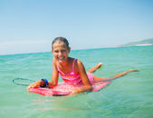 Summer vacation - surfer girl. — Stock Photo