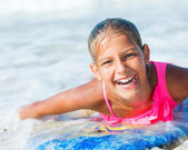 Summer vacation - surfer girl. — Photo