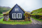 Traditional icelandic house — Stock Photo