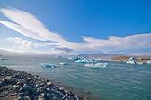 东冰岛冰川湖 — 图库照片