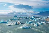 Lagoa de geleira na islândia do leste — Foto Stock