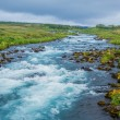 Stock Photo: Summer iceland landscape with...
