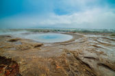 Geothermal activity landscape — Stock Photo