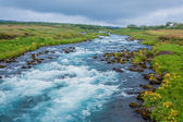 Summer iceland landscape with... — Stock Photo
