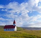 Typical rural icelandic church — Stock Photo