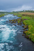 Summer iceland landscape with... — Foto Stock