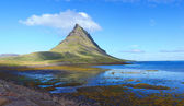 Mount kirkjufell east face from ... — Stock Photo