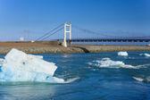 Bridge over icelands Jokulsarlon — Stock Photo