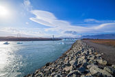 Bridge over icelands Jokulsarlon — Stock Photo