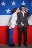 Patriotic teenagers boy — Zdjęcie stockowe