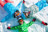 Ski, winter, snow, skiers — Stock Photo
