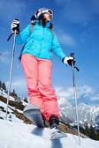 女性スキーヤー — ストック写真