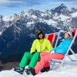 Ski vacation - resting skier. — Stock Photo #40274473