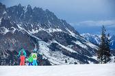 Invierno, nieve, esquí, esquí — Foto de Stock