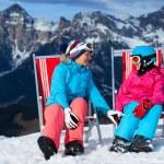 Ski vacation - resting skier. — Stock Photo #40299105