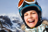 Happy young skier — Stock Photo