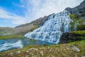 Cachoeira dynjandi — Fotografia Stock