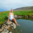 Woman in geothermal spring — Stock Photo #41546903