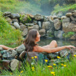 Woman in geothermal spring — Stock Photo #41546927