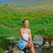 Woman in geothermal spring — Stock Photo #41546871
