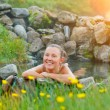 Woman in geothermal spring — Stock Photo #41546909