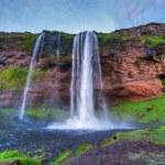 Seljalandfoss waterfall. — Stock Photo