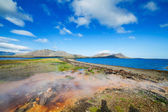 Hot geothermal spring. — Stock Photo