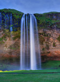 Seljalandfoss waterfall. — Stockfoto