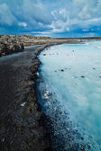 The blue lagoon geothermal bath. — Stock Photo