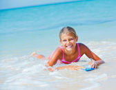 Summer vacation - surfer girl. — Stock Photo