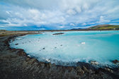 The blue lagoon geothermal bath. — 图库照片
