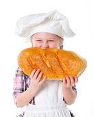 Little baker. — Stock Photo
