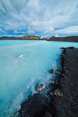The blue lagoon geothermal bath. — Foto Stock