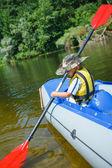 Boy kayaking — Foto de Stock