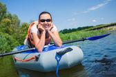 Mujer kayak — Foto de Stock