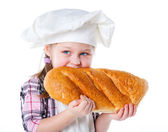 Little baker. — Stock Photo
