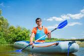 Uomo kayak — Foto Stock
