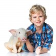 Little farmer — Stock Photo #43745367