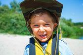 мальчик каякинга — Стоковое фото