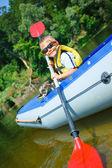 Chico kayak — Foto de Stock