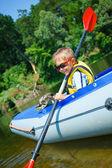 Garçon kayak — Photo