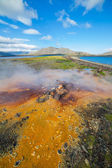 Hot geothermal spring. — Foto Stock