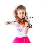 Girl little violinist — ストック写真